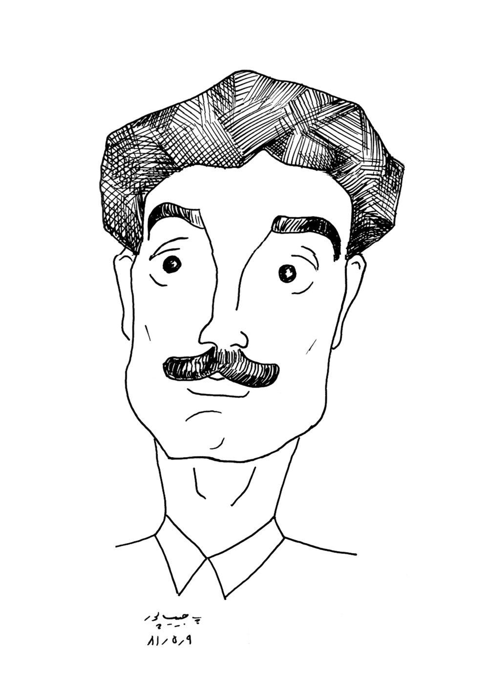 کاریکاتور رضا ترابی اثر استاد پرویز حبیب پور