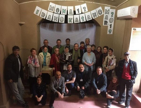 گروهی از شرکت کنندگان در همایش بینالمللی اسپرانتوی آسیا و شمال آفریقا در شهر کاشان ایران